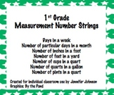 1st grade Measurement Number Strings