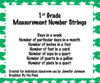 1st grade Measurement Number Strings