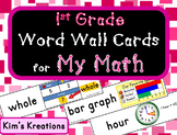 1st grade My Math (McGraw Hill) Vocabulary Word Wall Cards