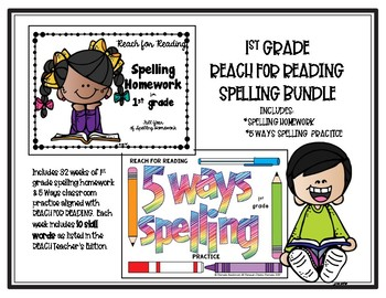 1st grade National Geographic Reach for Reading SPELLING BUNDLE