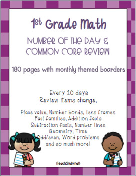 1st grade Number of the Day and Review Pages