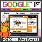 1st grade October Digital Activities for Google Classroom™
