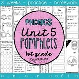 1st grade Phonics Pamphlets aligned with Benchmark Unit 5