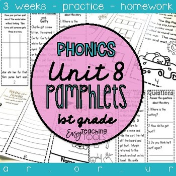 1st grade Phonics Pamphlets aligned with Benchmark Unit 8 (ar, or, ur)