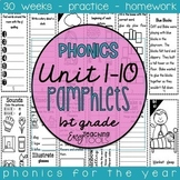 1st grade Phonics Pamphlets for the Entire Year aligned with Benchmark Bundle