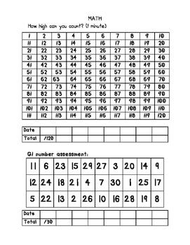1st grade RTI packet