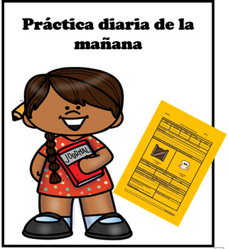 1st grade Reading/Writing/ Grammar morning work in Spanish
