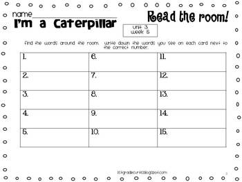 1st grade Reading street: Read and Write the Room unit 3 weeks 4-6