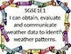 1st grade Science I Can Statements for GSE with Crayon Border