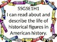 1st grade Social Studies I Can Statements for GSE with Crayon Border