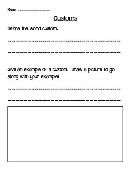 1st grade Social Studies MP 2 Bundle