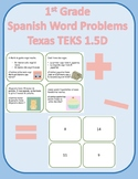 1st grade Spanish 1.5D/1.OA.A.1 Word Problems