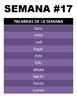 1st grade Spanish Spelling Words - (Todo el año) - Palabras de Ortografía