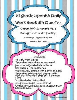 1st grade Spanish daily workbook- Quarter 4