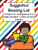 Suggested Reading List by Guided Reading Level A-Z
