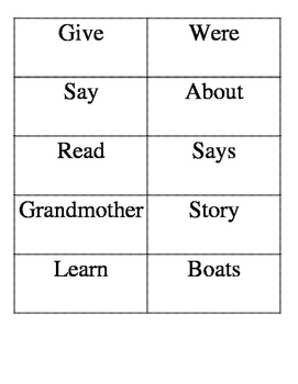 1st grade Treasuers Reading Series Unit 3.5 Gram and Me Weekly Skills Packet