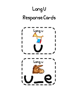 "1st grade Treasures ""June Robot Cleans Up""Long U Response Cards"