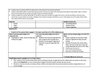 1st grade Unit 1 chapter 3 of Teachers College Writing