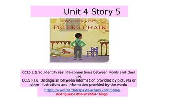 """1st grade Unit 4 Story 5 """"Pete's Chair """""""