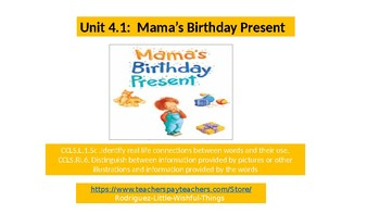 1st grade Unit 4 story 1 Mama's Birthday Present