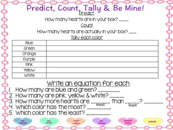 1st grade Valentine's Day Math Activities