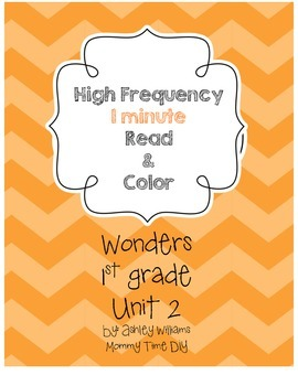 Wonders HFW Fluency - Unit 2