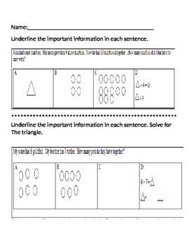 1st grade addition word problem assessment