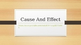1st grade cause and effect PowerPoint