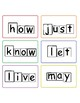 1st grade dolch sight words with word shape outlines