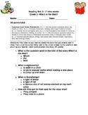 1st grade engage ny reading test 3 1st nine weeks