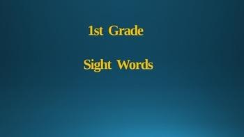 1st grade irregular sight words