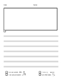 grades K-1 lined story writing paper