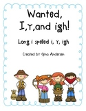 1st grade long i spelled i, igh, y Unit 5 Week 2 Treasures