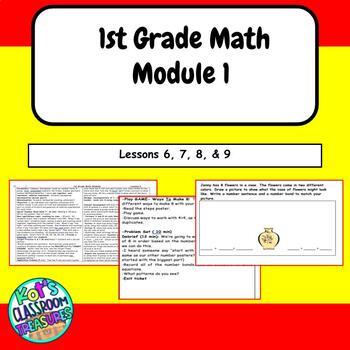 1st grade math module 1.  Common Core lessons 6-9
