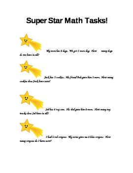 1st grade math tasks