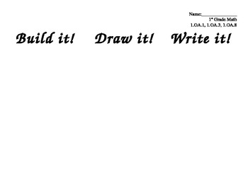 "1st grade math work mat ""Build it! Draw it! Write it!"