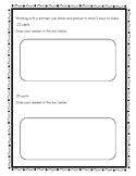 1st grade money partner activity