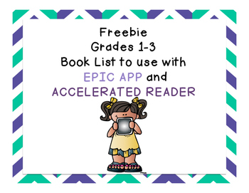 1st 3rd Grade Reading Book List To Use With Epic App By Iteach2ndanab