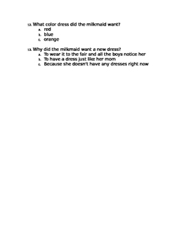 1st grade reading test Engage NY 1st nine weeks