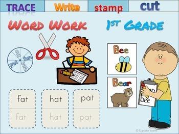 Word Work..Read it, Trace it, Make it, Sort it !