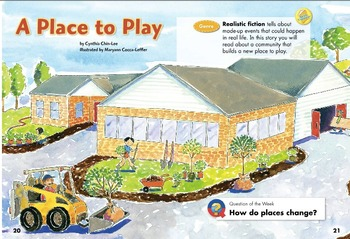 1st grade unit 3 story 1 A Place To Play