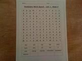 1st grade vocabulary word search, treasures unit 1)