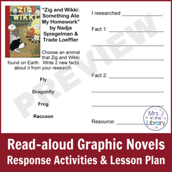 1st or 2nd Grade Graphic Novels Study (Activity Booklet & Lesson Plan)