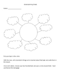 1st or Early 2nd Grade Non-fiction Brainstorming and Planning Sheet