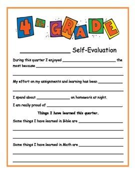 1st quarter self-evaluation