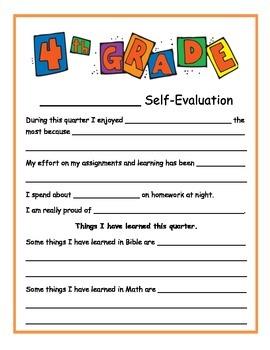 1st quarter self-evaluation