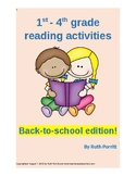 1st through 4th grade reading packet {Back to school}
