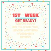 1st week of school lessons (Algebra I, Algebra II, PreCalculus)