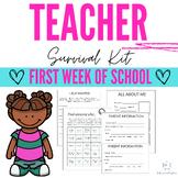 1st week of school survival kit!