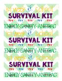 1st week survival kit